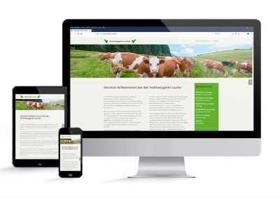 Hofmetzgerei Laufer Website